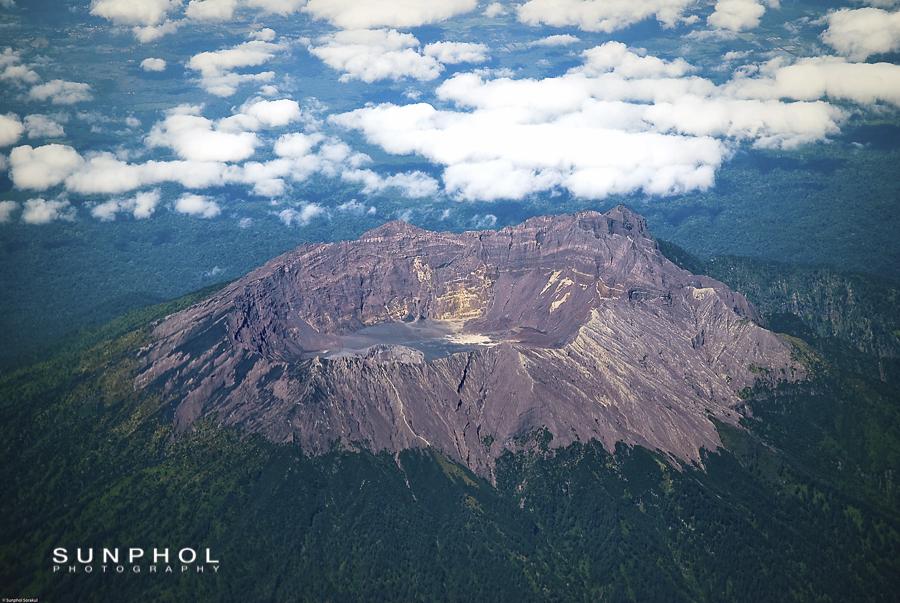 caldera, Raung Volcano, East Java